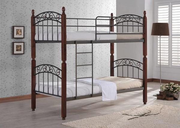 Кованая кровать К-009 двухъярусная