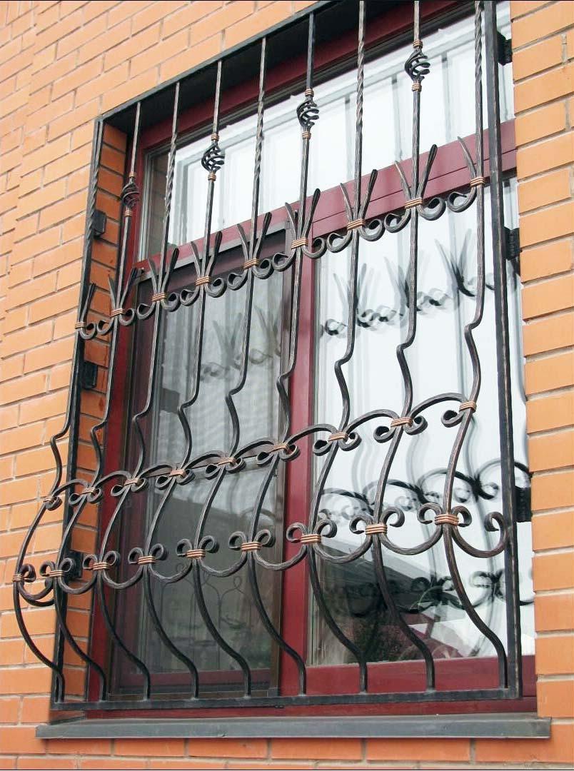 Кованая решетка на окно Р-009
