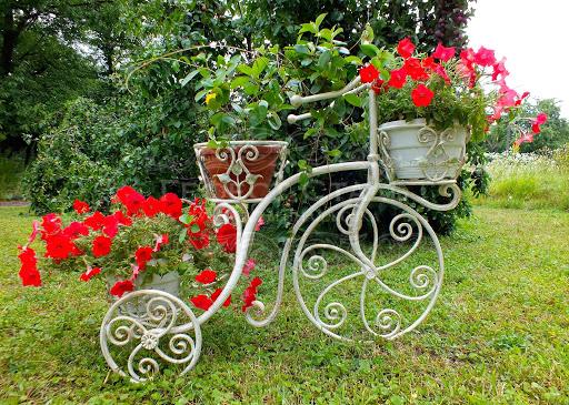 Кованая цветочница-велосипед Ц-008