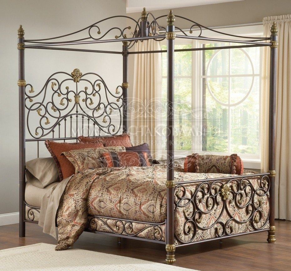 Кровать К-002 с кованым изголовьем