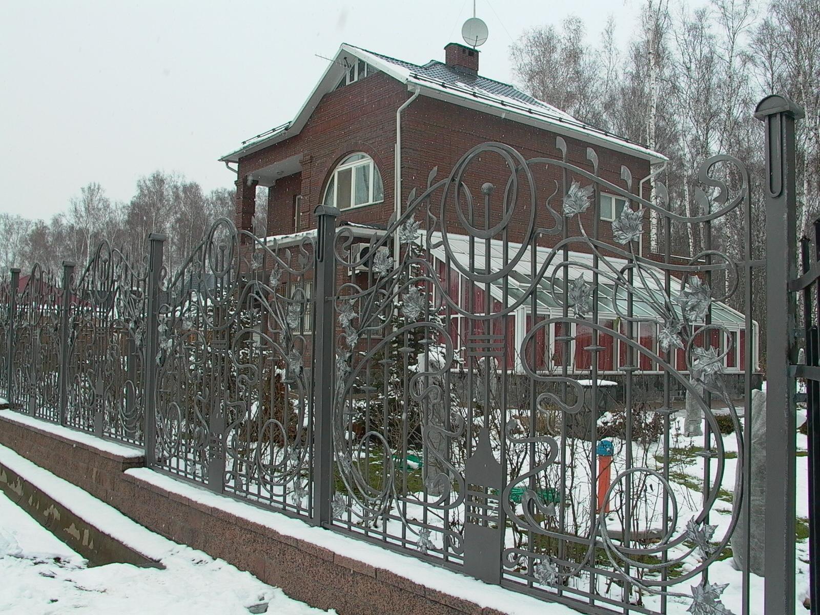 Кованый забор З-014