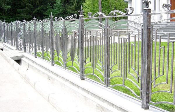 Кованый забор З-020
