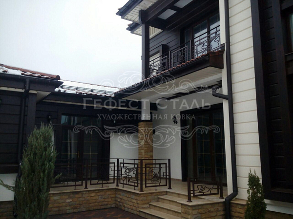 Кованый балкон КБ-001