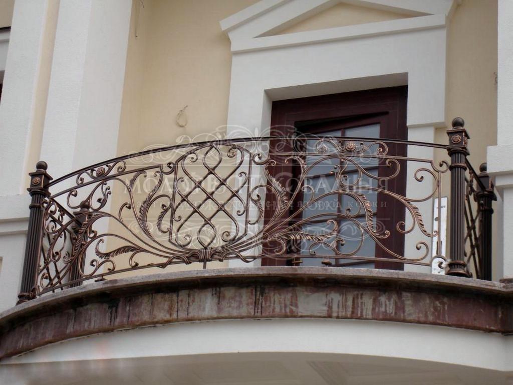 Кованый полукруглый балкон КБ-009